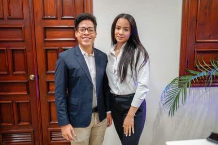Brian Aquino y Ana García.