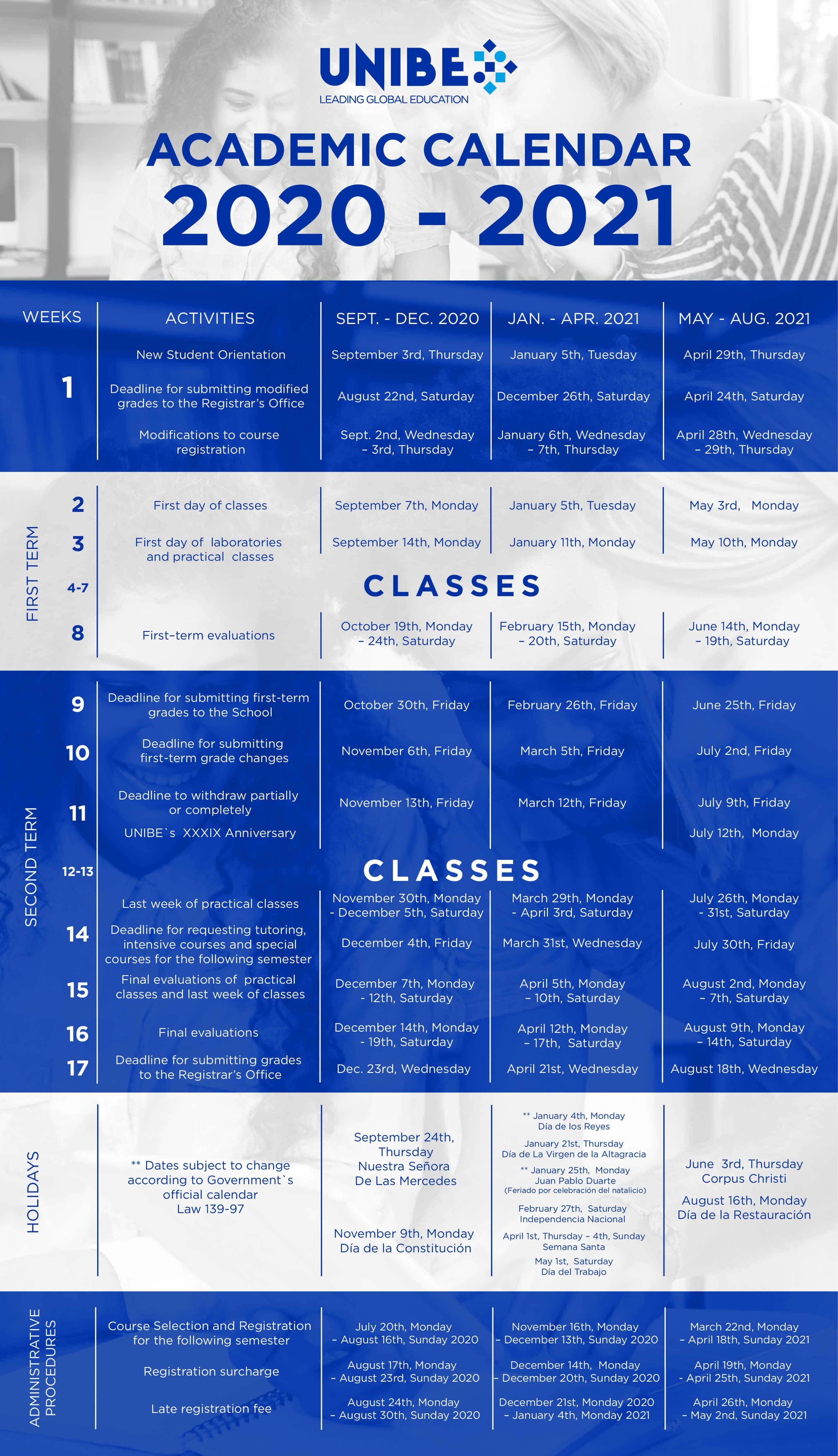 Calendario Academico 2020-2021