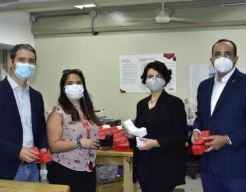 Unibe entrega piezas para faceshields al Intec