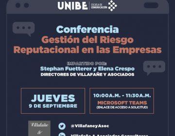 Estudiantes de Unibe aprenden cómo gestionar reputación como driver de negocio